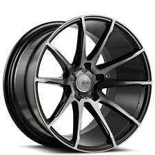 "4ea 19"" Staggered Savini Wheels BM12 Gloss Black w/ DDT Rims (S2)"