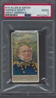 1888 N15 Allen & Ginter Great Generals Winfield Scott Graded PSA 2