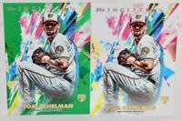 2020 Topps Inception Tom Eshelman RC 2 Card Lot Green Parallel and Base Card
