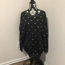 Wildfox  black stars long sweater SZ L NWT