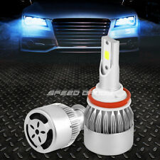 2XLED WHITE H8 6000K HIGH/LOW BEAM HEADLIGHT REPLACE BULBS KIT w/COOLING FAN