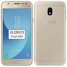 New Samsung Galaxy J3 2017 Dual-SIM 16GB Gold SM-J330F/DS Factory Unlocked 4G
