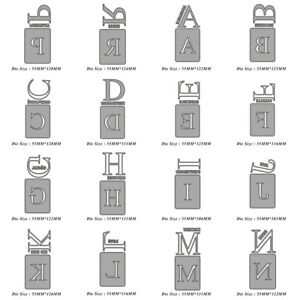 Metal Cutting Dies Letters DIY Scrapbooking Photo Album Embossing Stencil Crafts