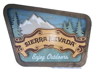 Sierra Nevada Cut-Out Embossed Metal Sign