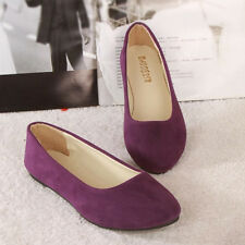 Womens Flats Pumps Ladies Ballet Ballerina Dolly Bridal Loafers Shoes Size 4-10
