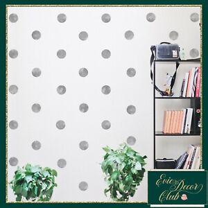 Polka Dots Wall Stickers SILVER Decal Child Vinyl Decor Spots  Baby Nursery