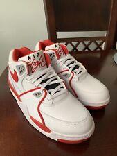 Nike Air Flight 89 LE White University Red Mens Size 7.5