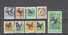 S8825 - TANZANIA 1973 - LOTTO TEMATICA FARFALLE - VEDI FOTO