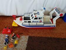 Playmobil costal búsqueda/bote de rescate + sucio, Equipo De Buceo + 3941 en muy buena condición