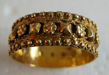Gold Lovely Decorated Hallmarked Dutch Ring An Antique 18th Century 22K Yellow