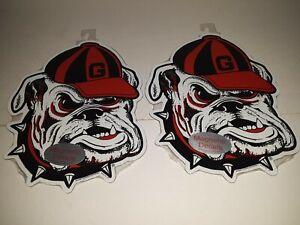 "Georgia Bulldogs Magnetic Mascot Decal 9"" X 7.5"" ( Set of Two )"