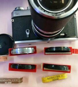 Zeiss Ikon Icarex 35 Spiegelreflexkamera Carl Zeiss Super Dynarex 4/135 Objektiv