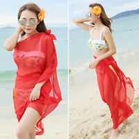 Sexy Women's Chiffon Bikini Swimwear Beach Wrap Cover up Scarf Sarong Fashion