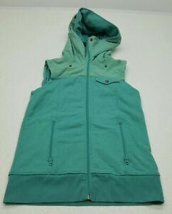 Burton Womens Dry Ride Hooded Ski Snowboard Vest Size Medium Teal Green