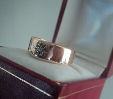 Attractive Vintage 9ct Rose Gold & Diamond Ring h/m 1913 Birmingham  -  size R