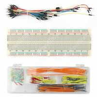 830Point Soudure Protoboard Breadboard MB102+ 65Pcs+140Pcs Jumper Câble Wires Ne