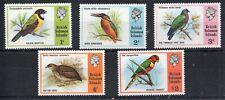 BRITISH SOLOMAN ISLANDS 1975 BIRDS LIGHTLY MOUNTED MINT