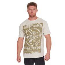 Mens Plus / Big Size American Design Printed Summer T-Shirt