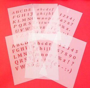 Extra kleine Schrift und Zahlen-Schablonen ● für Scrapbooking und Grusskarten