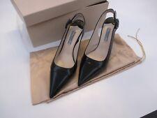 Prada Calzature Donna Spazzolato Bico Nero High Heels size 36.5 EU Pre Owned