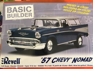 Revell 1957 Chevy Nomad Wages Basic Builder 1/24 Scale Molded in Color