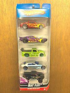 Hot Wheels Heat Fleet 5pack Cadillac V16 Mustang Mega Duty Nitro Doorslammer