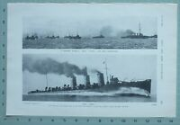 1914 WW1 PRINT TORPEDO FLOTILLA HMS ACTIVE ~ HMS SWIFT