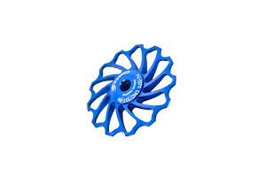 ZOOM Road MTB Bicycle Bike Rear Derailleur Ceramic Oversized Pulley 13T Blue