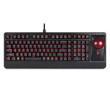 Perixx PERIBOARD-322 Large Trackball Mechanical Keyboard- Illuminated-QWERTY US