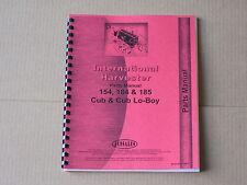 JENSALES PARTS MANUAL FOR IH INTERNATIONAL 154 CUB LO-BOY 184 185