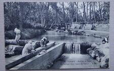 ET71) CPA TUNISIE un barrage dans l'oasis de Tozeur