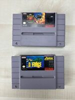 D-Force Desert Strike Return To The Gulf Tested  Authentic (Super Nintendo SNES)