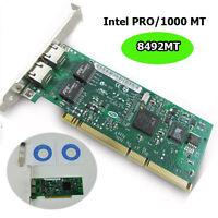 Intel 8492MT PRO/1000MT Dual Port Server Server PCI Adapter Network Card