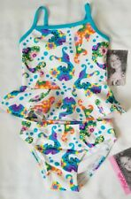 "NWT Toddler Girl's ""Flapdoodles"" White Fish Print Two Piece Bathing Suit Size 2T"