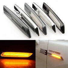 2x F10 LED Amber Light Clear Side Marker Lights Turn Signal For BMW 1/3/5 Series