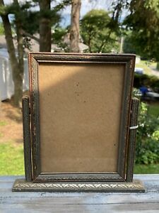 ANTIQUE VINTAGE WOODEN ART DECO PICTURE FRAME SWIVEL STAND