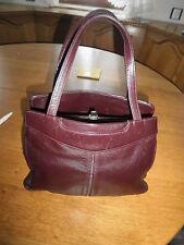 Wunderschöne alte Damen Hand Tasche boudeaux vintage 70er Retro echtes Leder