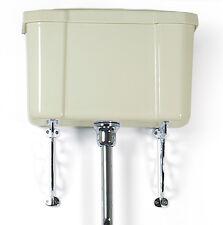 Ivory/Cream High Level Ceramic Toilet Cistern