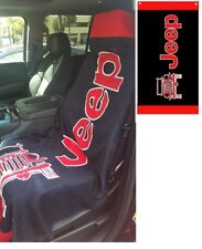 Black & Red Jeep Beach Towel Seat Cover for Jeep CJ Wrangler JT2G100BR