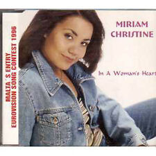 MAXI CD EUROVISION 1996 Malte : Miriam CHRISTINE	In a woman's heart 5-TRACK