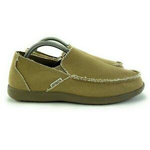 Crocs Men's Santa Cruz Khaki Slip On Loafer Shoes 10128-261 Sizes 8 - 14 M