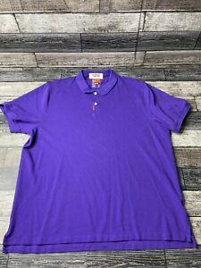 Nike Golf Nike Fit Dry Mens Purple Short Sleeve Dri-Fit Polo Shirt Tour Size XL