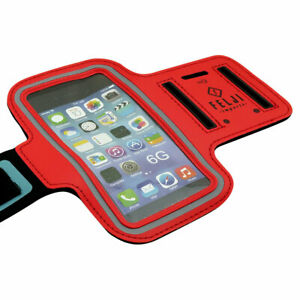 Small Sport Armband Case Bag for iPhone 6S 7 8 X Samsung Galaxy, Red