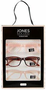 Jones New York Womens 3 Pc. Rose Reading Glasses Set