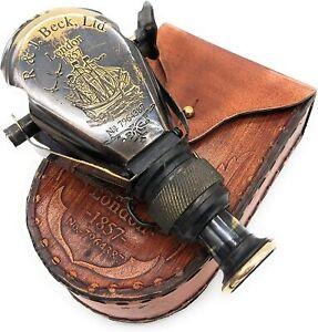Nautical Columbus Small Single Brass Marine Vintage Binocular R & J Beck London