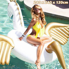 Giant Inflatable Pegasus Swimming Pool Ride On Float Raft Beach Lounger Bed Toy