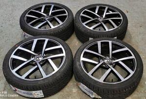 """18"""" VW Golf JURVA Style Alloy Wheels+tyres fits VW Golf MK5 MK6 MK7 (x4)"""