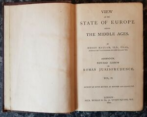 ANTIQUE HISTORY ENGLAND BOOK.1872.STATE OF EUROPE IN THE MIDDLE AGES.ROMAN.PROP.