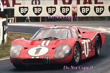GURNEY & Foyt Shelby American FORD GT40 Vincitori Le Mans 1967 fotografia 6