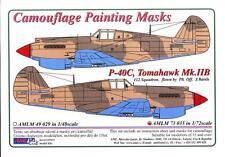 AML Models 1/72 CURTISS P-40C TOMAHAWK Mk.IIB Camouflage Paint Mask Set